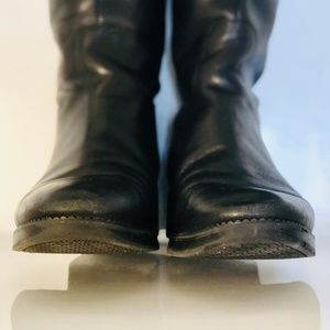 Tory Burch Shoes - Tory Burch Sidney Black Leather Riding Boots